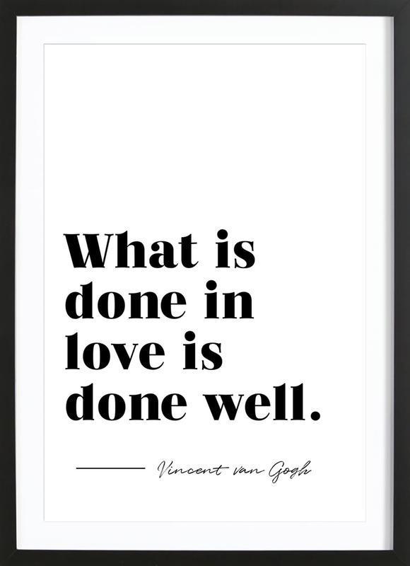 Done in Love Framed Print