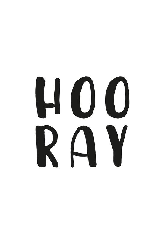 Hooray -Acrylglasbild