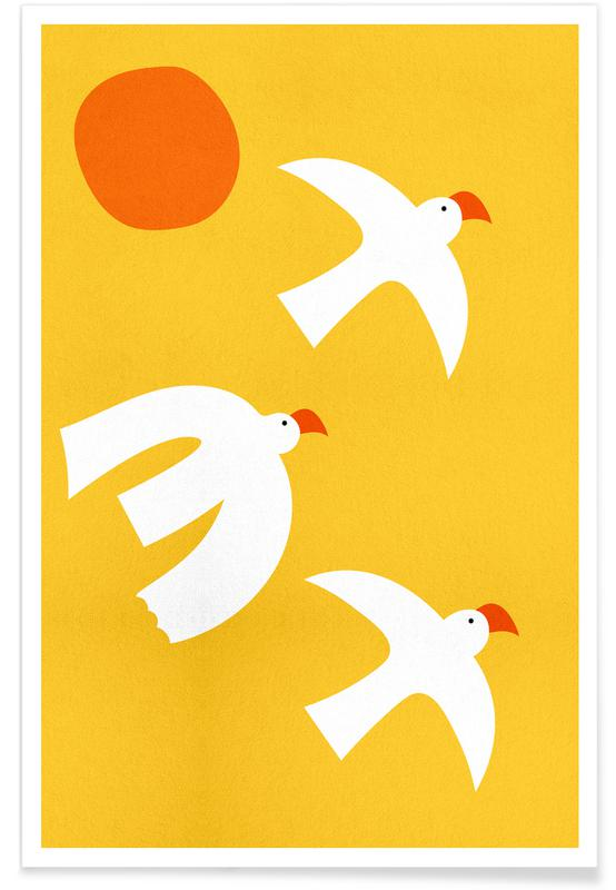 Flying Doves Poster