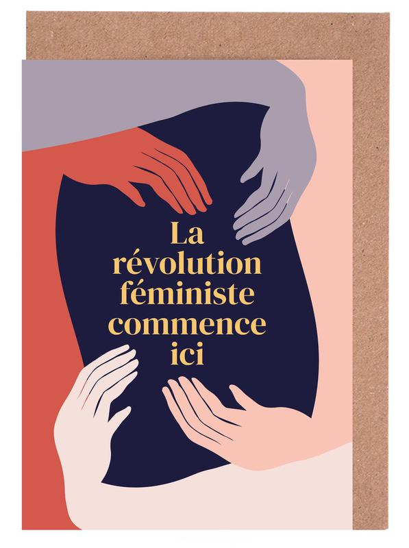 La Révolution Féministe Commence Ici II Greeting Card Set