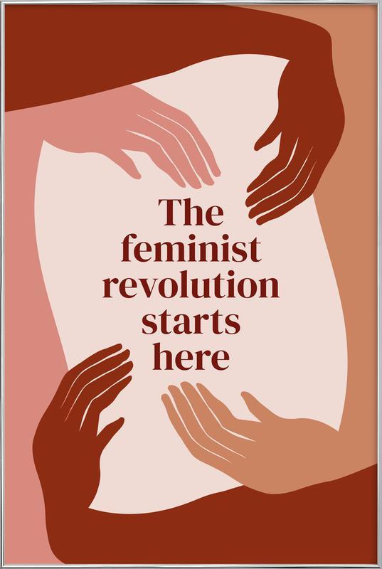 The Feminist Revolution Starts Here I Poster in Aluminium Frame