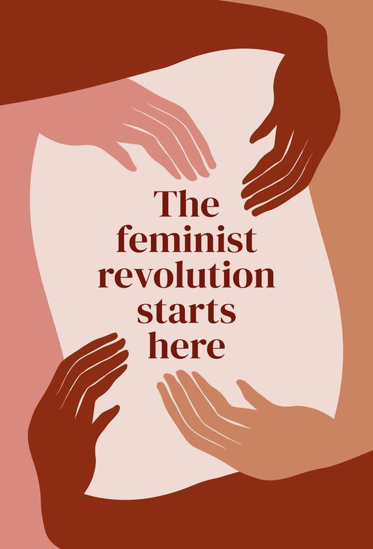 The Feminist Revolution Starts Here I Aluminium Print