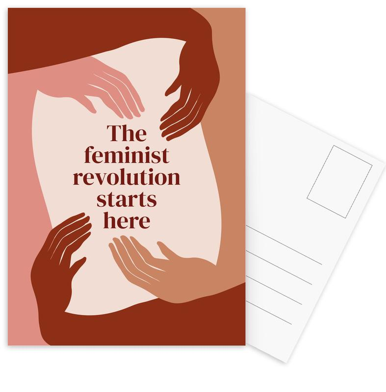 The Feminist Revolution Starts Here I Postcard Set