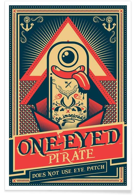 One-eyed pirate affiche