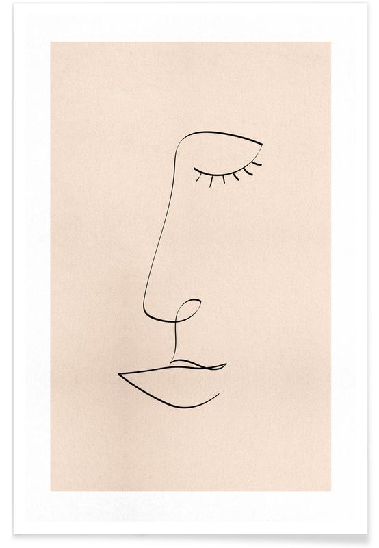 Line Portrait poster