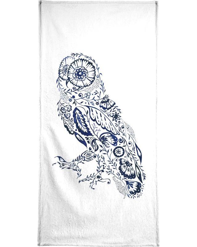 Folk Floral Owl serviette de bain