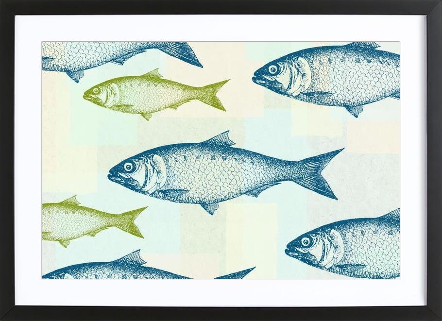 Vintage Fish Framed Print