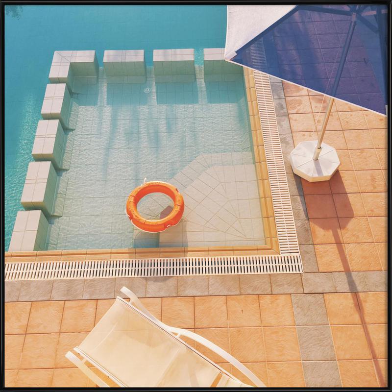 Swimming Pool Gerahmtes Poster | Garten > Swimmingpools > Schwimmbecken | Mehrfarbig