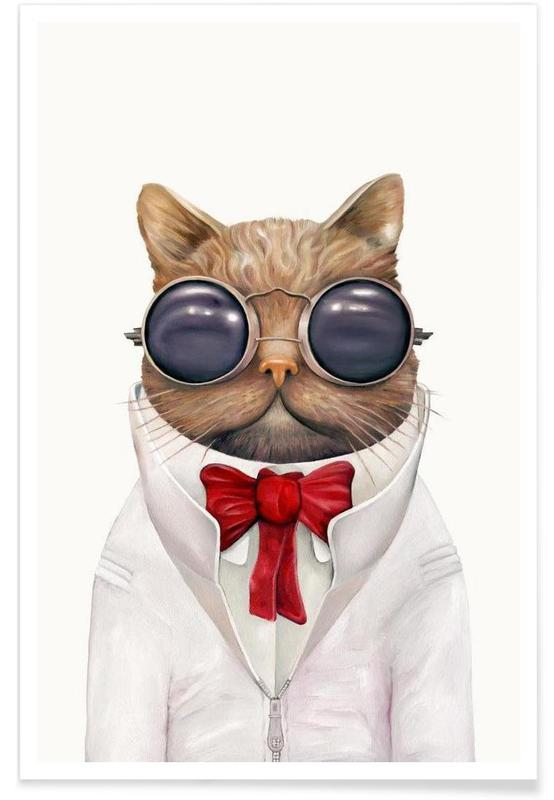 Astro Cat Poster
