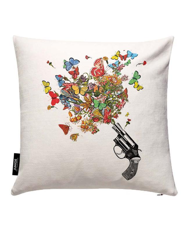 Pow!! Flowers!! Cushion Cover