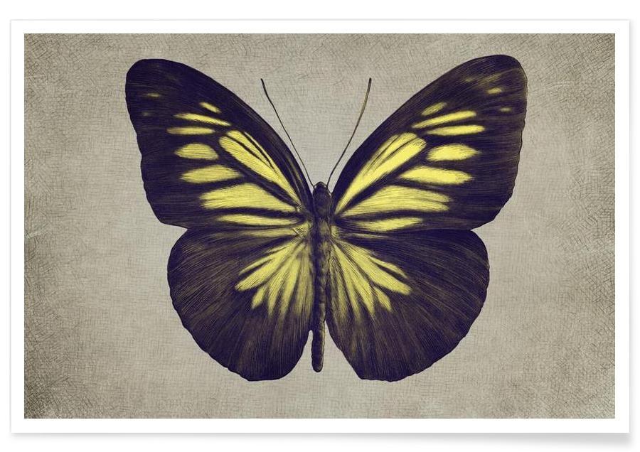 Papillon (yellow) affiche