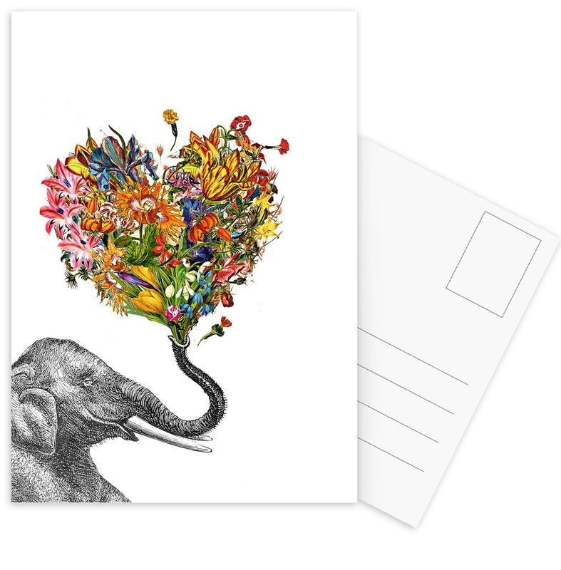 The Happy Elephant -Postkartenset