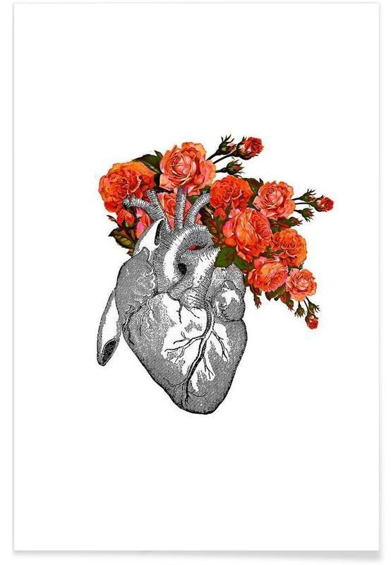 Flowering heart affiche
