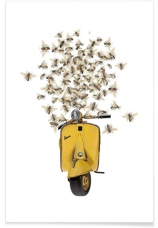 Sweet as a honey...Vespa poster