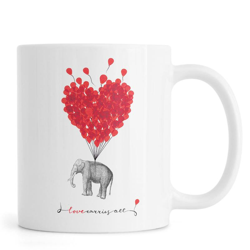 Love carries all - elephant -Tasse