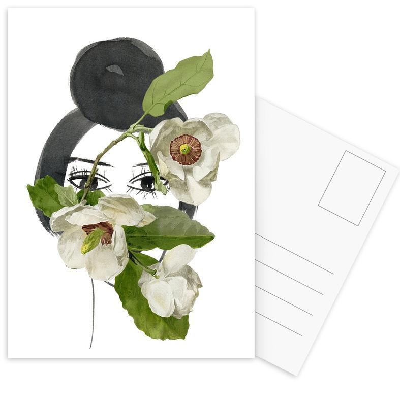 Look through the Flowers 1 Postcard Set