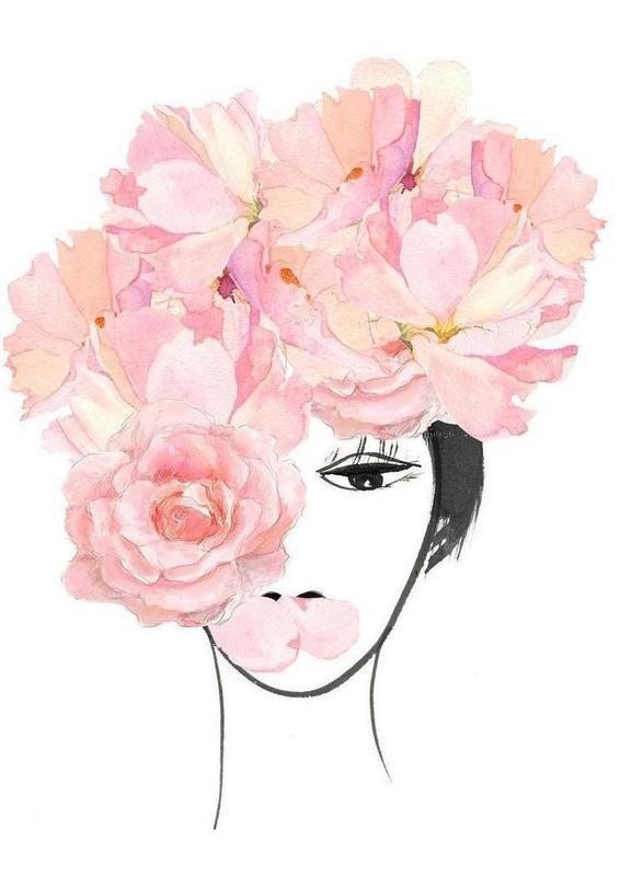 Look through the Flowers 3 -Leinwandbild
