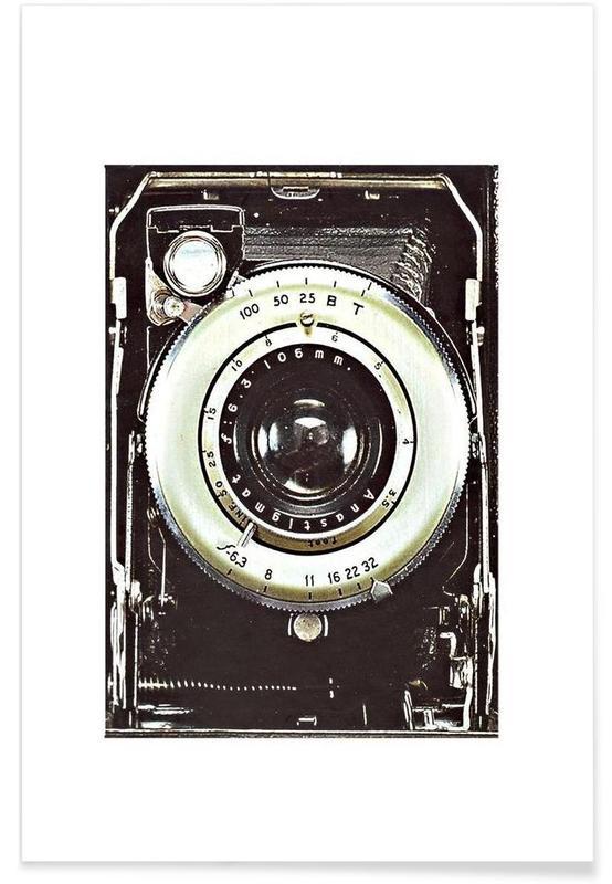 Smile vintage camera Poster