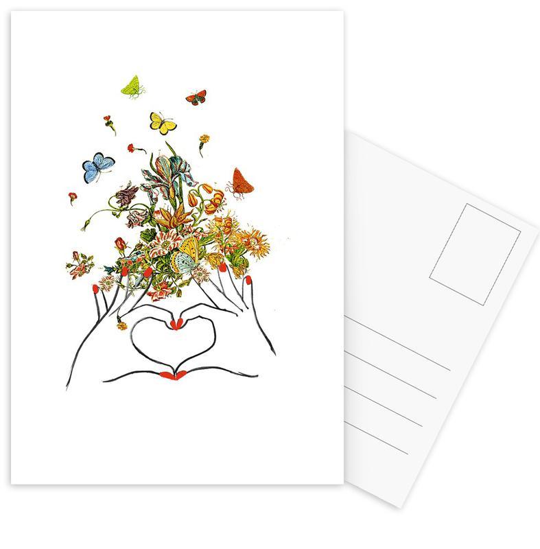 Girl Power Love -Postkartenset