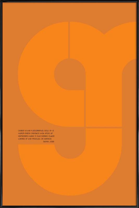 Steve Jobs Gerahmtes Poster
