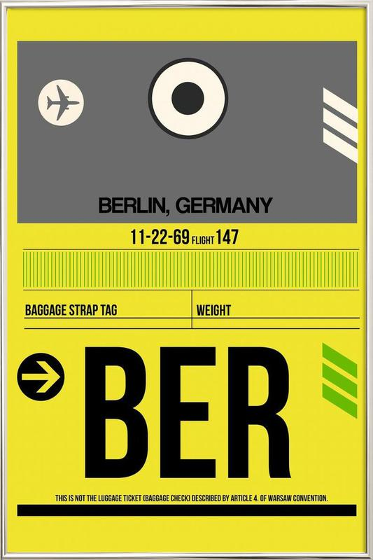 BER Berlin Poster im Alurahmen