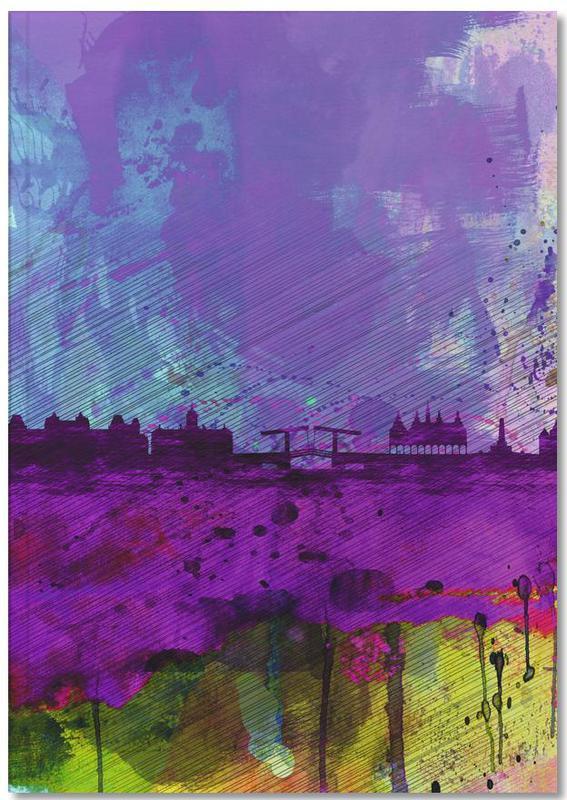 Amsterdam Watercolor Skyline Premium Notizbuch | Dekoration > Accessoires