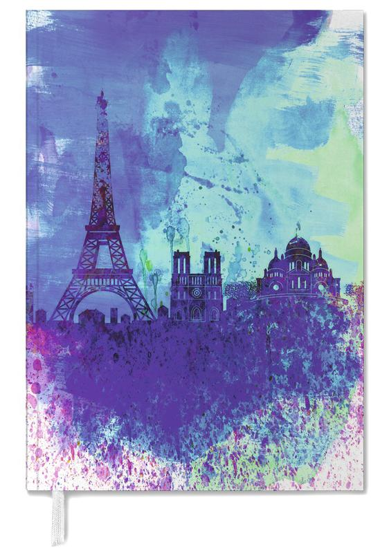 Paris Watercolor Skyline -Terminplaner