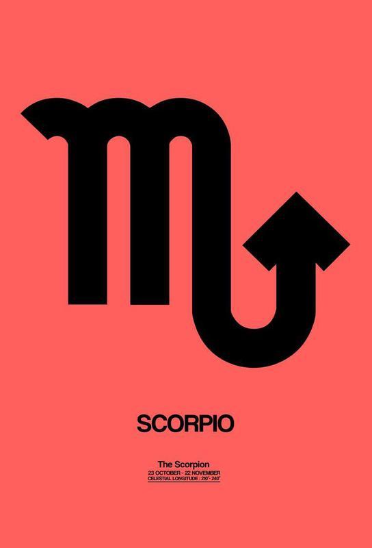 Scorpio Zodiac Sign Black Acrylglasbild | Dekoration > Bilder und Rahmen > Bilder | Mehrfarbig | Aluminium