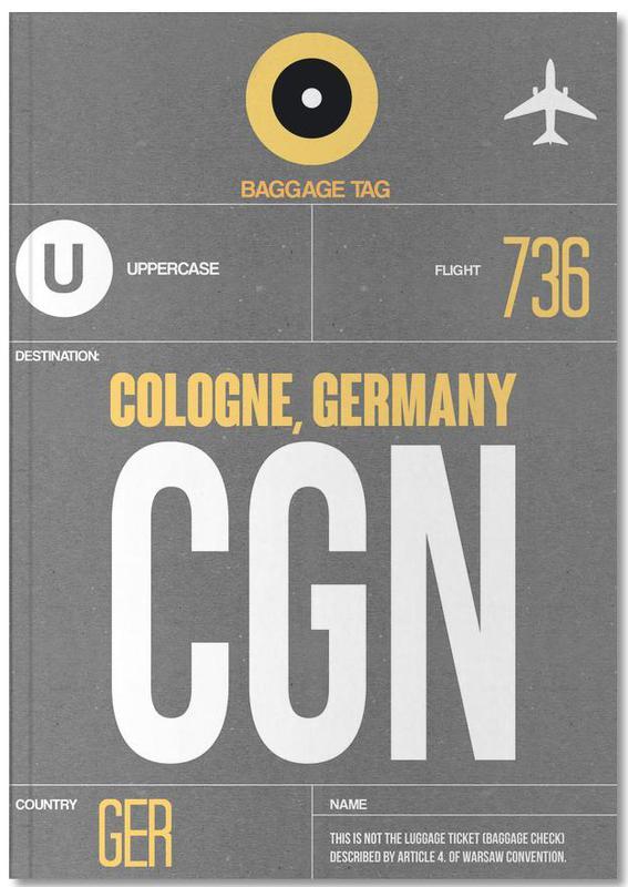 CGN Cologne Premium Notizbuch | Dekoration > Accessoires | Mehrfarbig | Papier