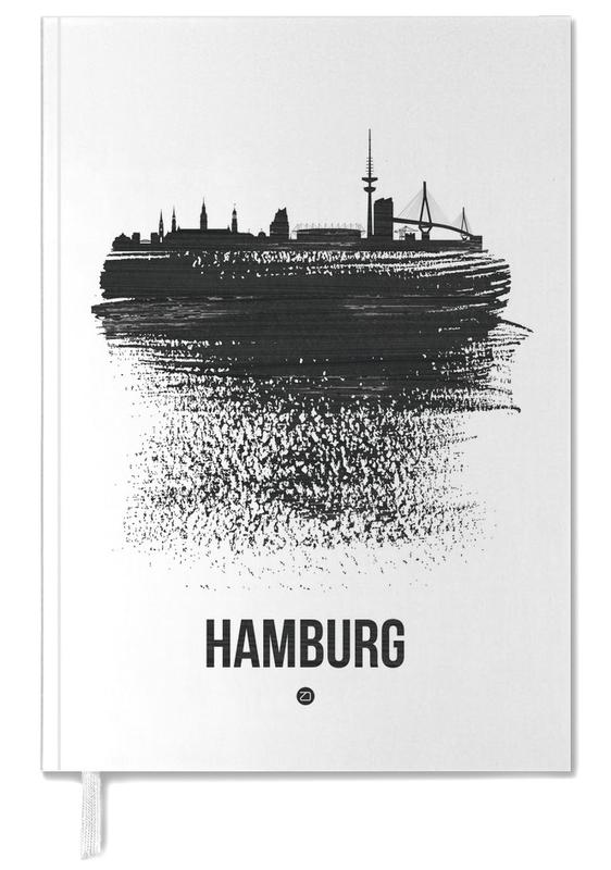 Hamburg Skyline Brush Stroke -Terminplaner