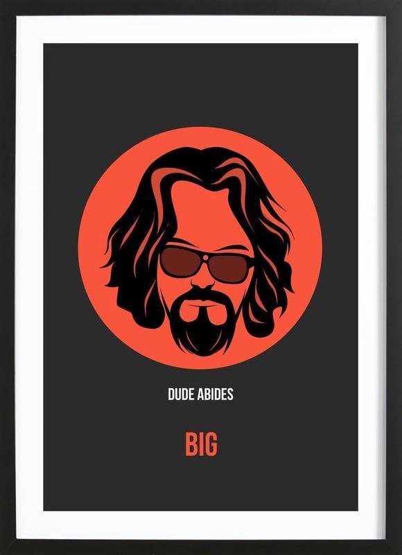 Dude Abides Poster 1 ingelijste print
