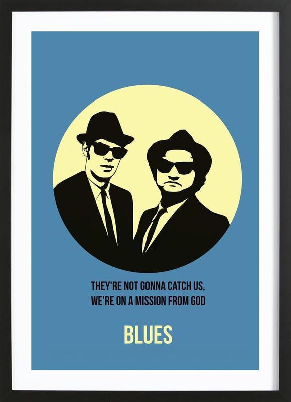 Blues Poster 2 ingelijste print