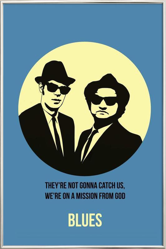 Blues Poster 2 poster in aluminium lijst