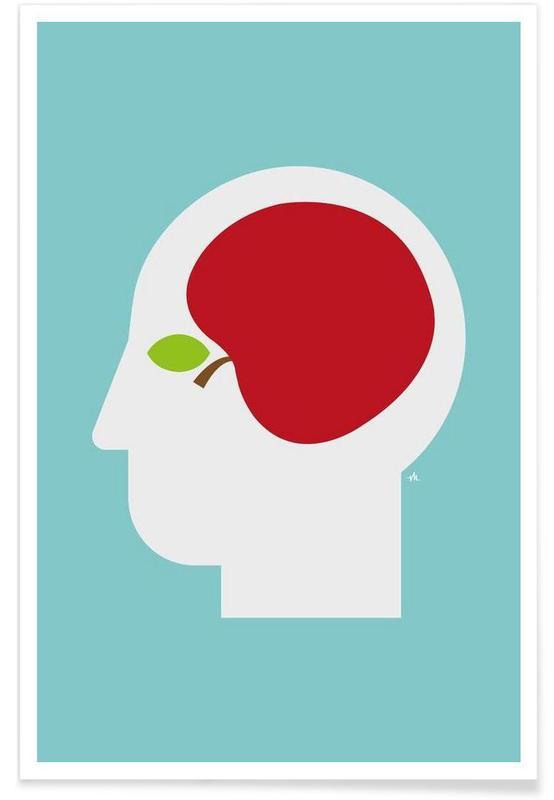 Apple head Poster