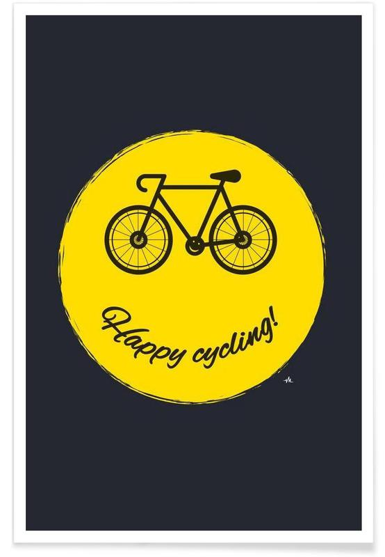 Happy cycling Poster