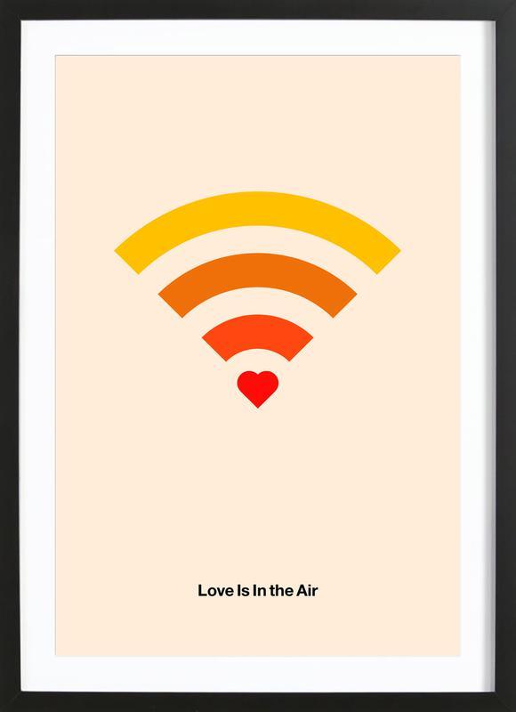 Love Is In The Air affiche sous cadre en bois
