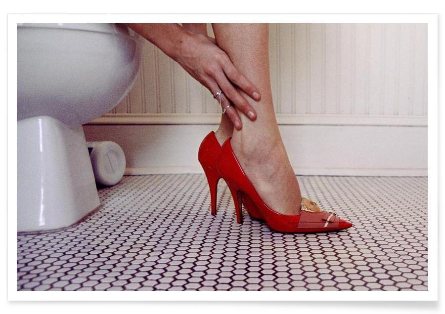 Louis Vuitton Red Shoe Blues Poster