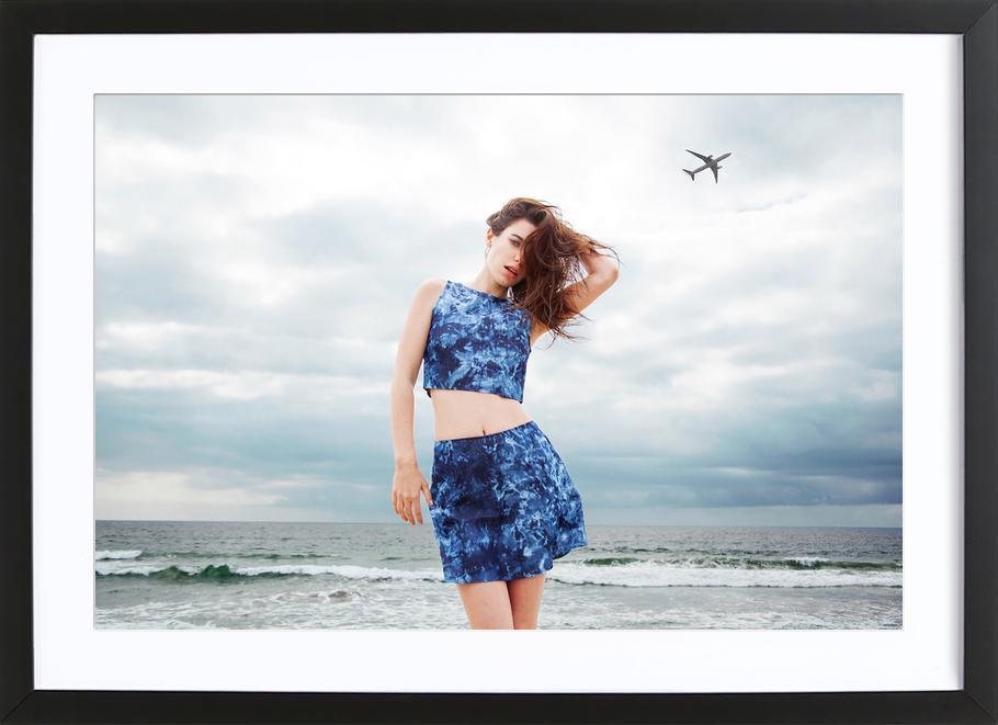 Airplanes Premium Poster gerahmt