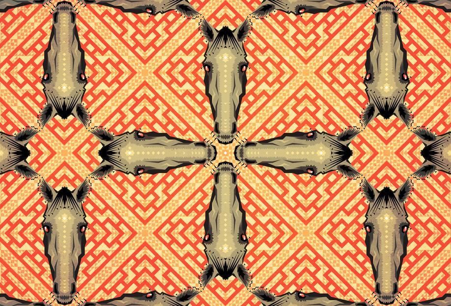 Horse Pattern Acrylic Print