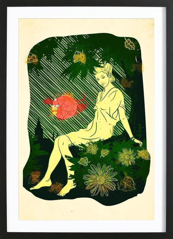 Divina Melancholia Premium Poster gerahmt