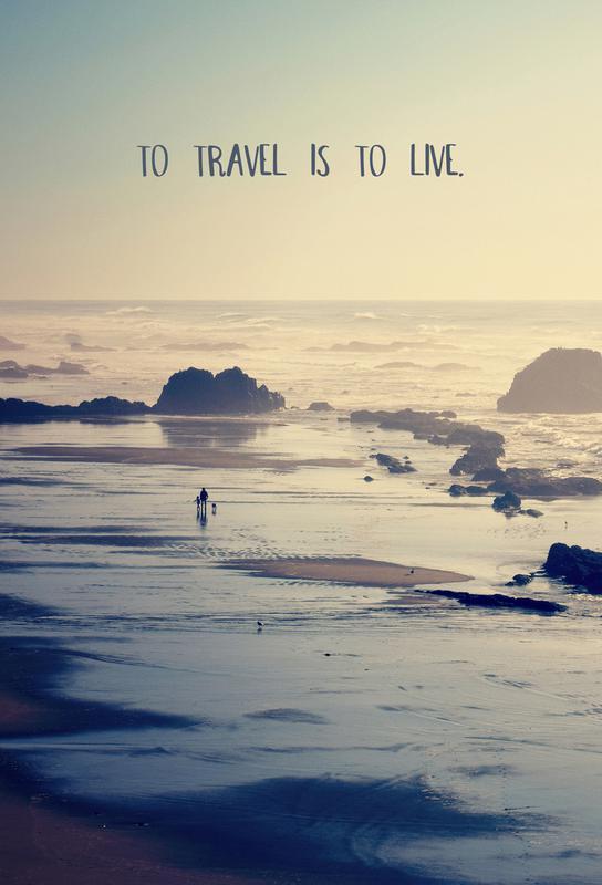 To Travel Is to Live Acrylglasbild | Dekoration > Bilder und Rahmen > Bilder | Mehrfarbig | Aluminium