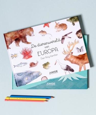 kinderboeken 'De dierenwereld van Europa' van Amy Hamilton en 'Daar zijn vrienden voor' van Yetiland