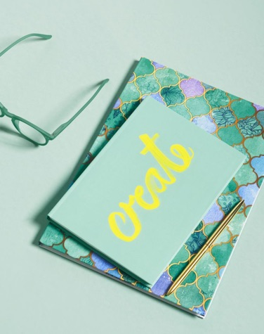 notebook with create design