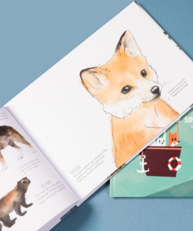 Children's book by Amy Hamilton with illustration of a fox