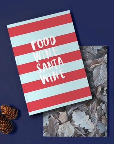 Notitieboek van JUNIQE bedrukt met do more of what makes you happy design
