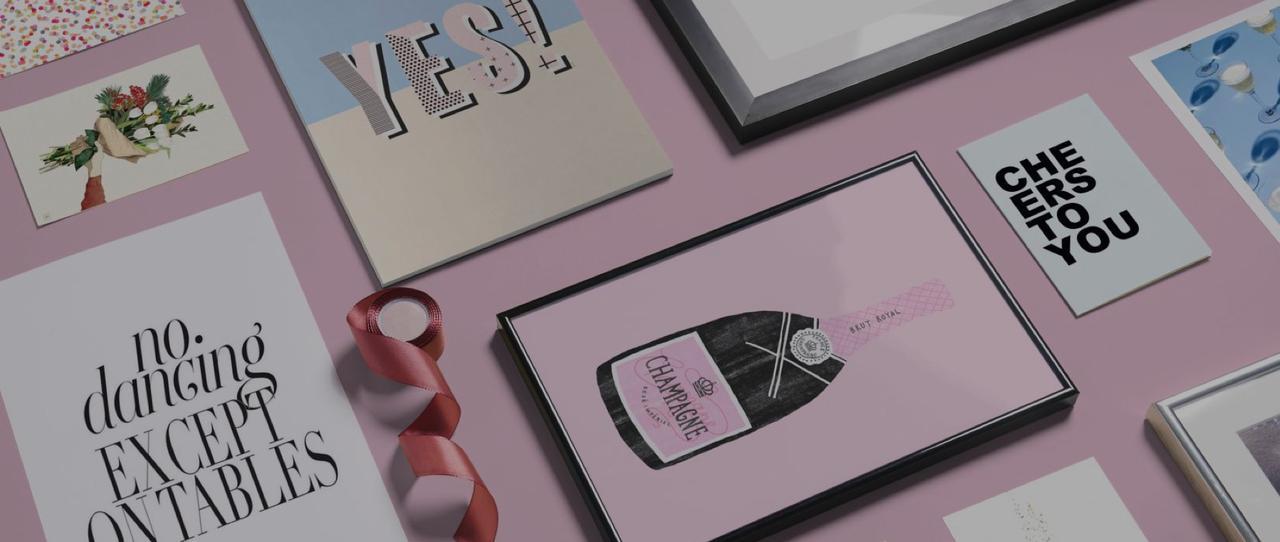 Champagner-Poster und Glückwunschkarten von JUNIQE