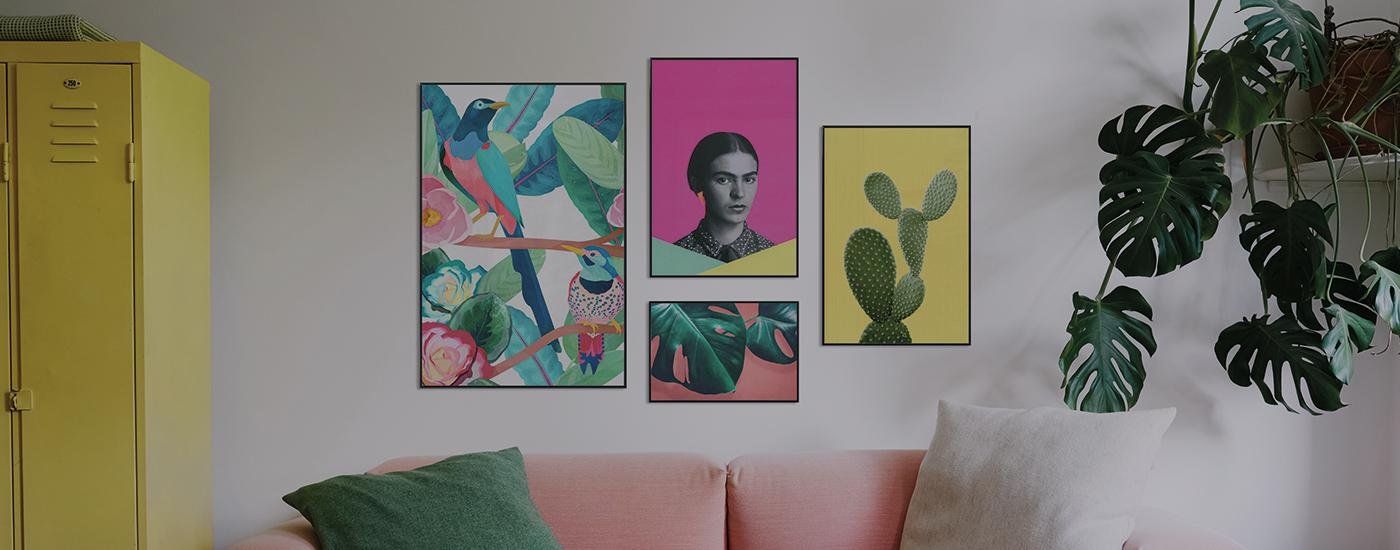 frida kahlo mexikanische malerin und muse juniqe. Black Bedroom Furniture Sets. Home Design Ideas