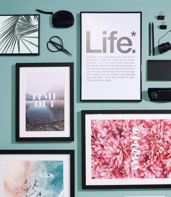 Ingelijste typografie en fotografie