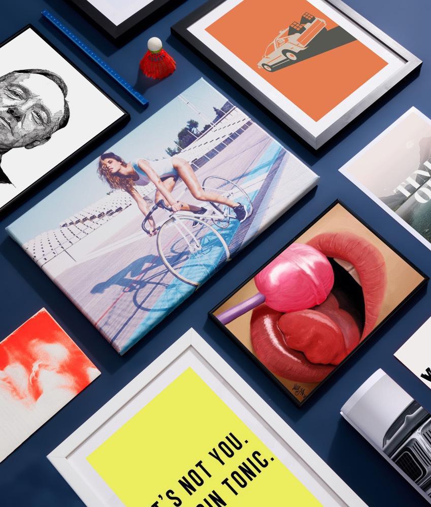 Typografie posters en fotografie van junique