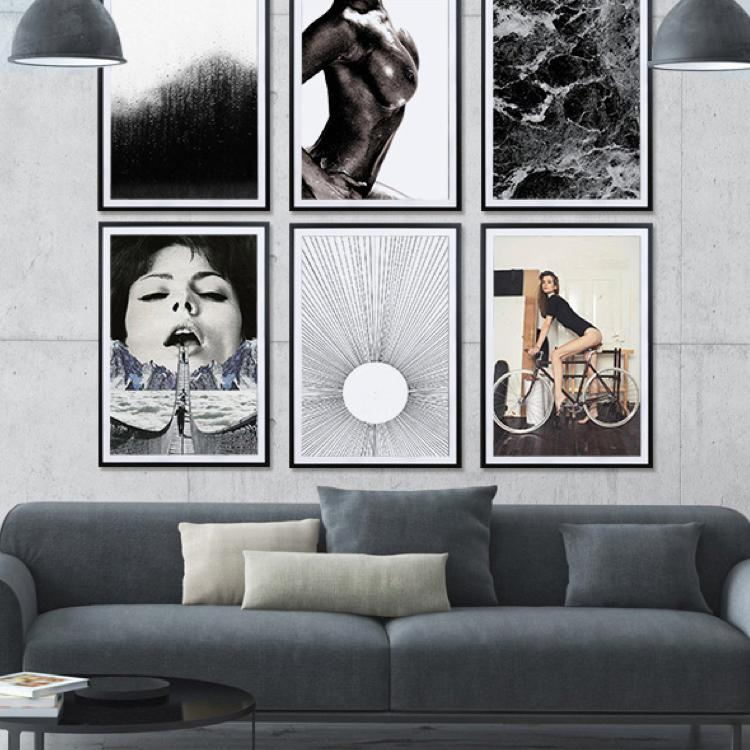 wandgestaltung bilder poster richtig aufh ngen juniqe. Black Bedroom Furniture Sets. Home Design Ideas